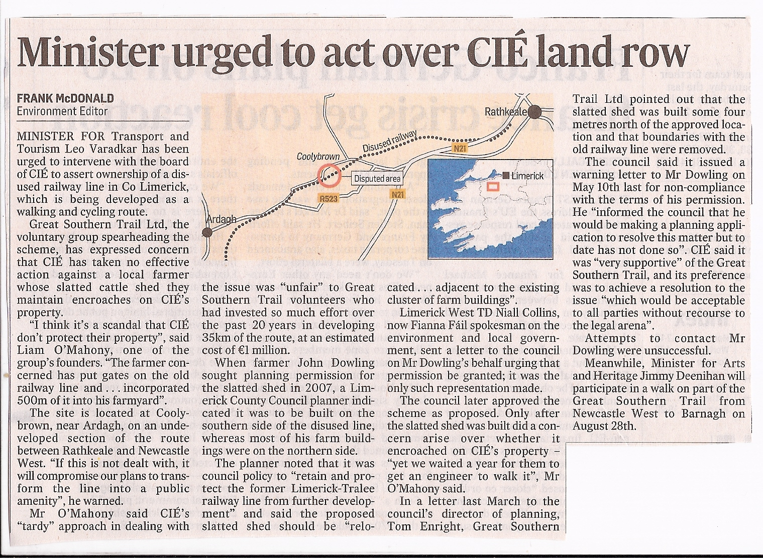 News 2010 12 Home Collection Voucher Map 100000 Bth Attached Is A Self Explanatory Article In Todays Irish Times